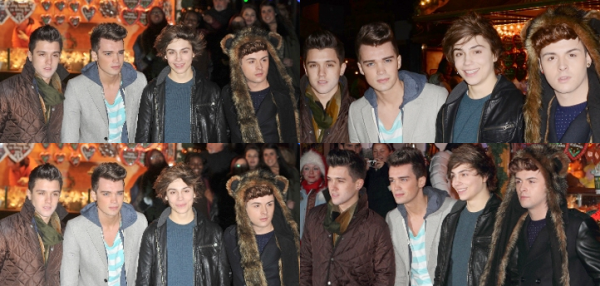 22.11.12 : Les Union J était au Hyde Park Winter Wonderland à Londres.