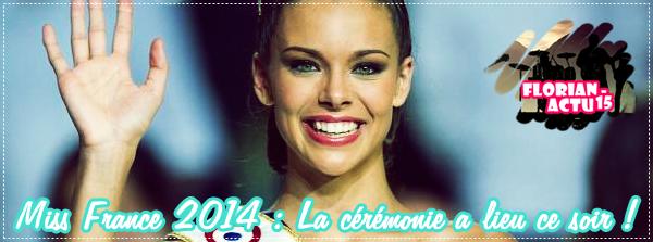 Miss France 2014 : La cérémonie a lieu ce soir !