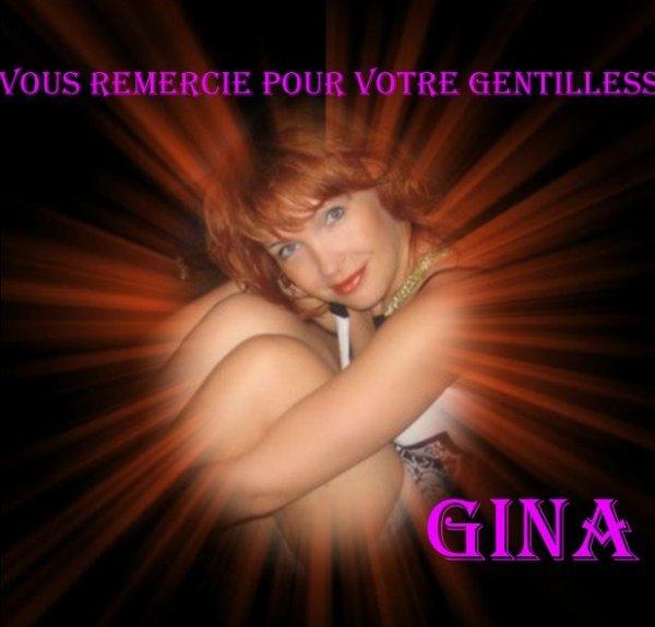 Merci à tous mes amis qui ont pensé à me souhaiter mon anniversaire, je suis surprise et touchée ... Gros bisous à vous ... Gina