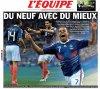 France Roumanie 2:0     et trois jours plus tard France Luxembourg 2:0