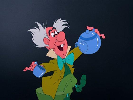 personnage dans « Alice au Pays des Merveilles ». :  Le Chapelier Fou