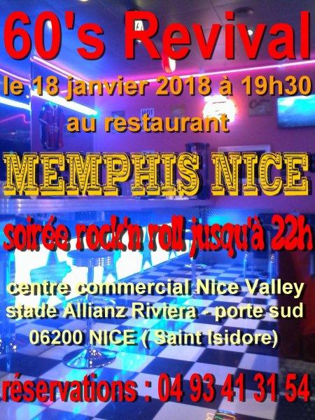 """60's REVIVAL redémarre l'année 2018 dans un endroit qu'il connait bien, le """"Memphis Nice"""""""
