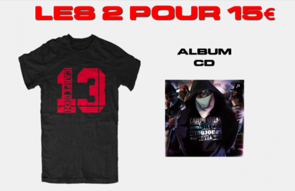 SOLDE T-SHIRT + 1ER STREET ALBUM DE CARPE DIEM .ıllılı. Facebook Groupe Officiel .ıllılı. Fan Facebook Officiel .ıllılı.
