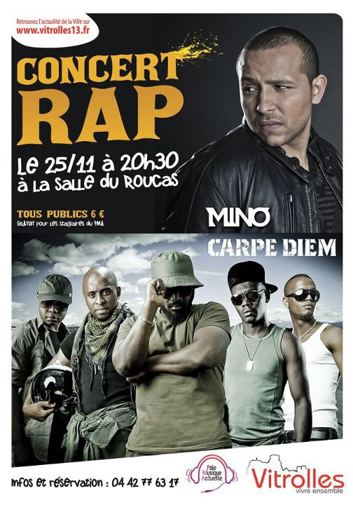 CONCERT CARPE DIEM / MINO .ıllılı. Facebook Groupe Officiel .ıllılı. Fan Facebook Officiel .ıllılı.