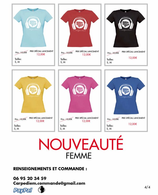 NOUVEAUX T-SHIRTS CARPE DIEM HOMMES/FEMMES 2012  .ıllılı. Facebook Groupe Officiel .ıllılı. Fan Facebook Officiel .ıllılı.