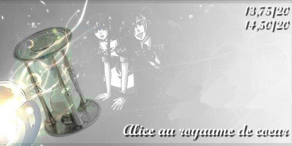 Alice au royaume de coeur.