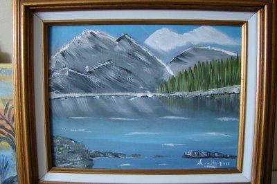une peinture a l'acrylique