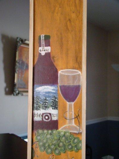 mon patron de bouteille de vin sur bois et acrylique