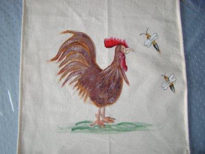 un drapeau avec un coq pour mon amie toussaint