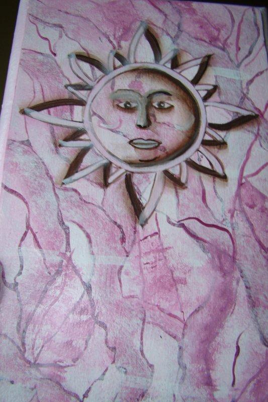 soleil d'été en faux marbre