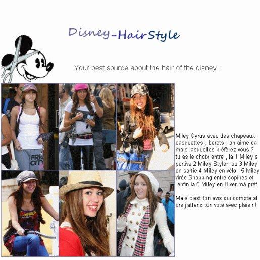 Miley Cyrus avec des chapeau