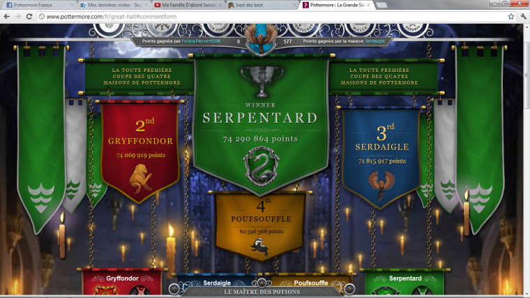 Bravo Serpentard !