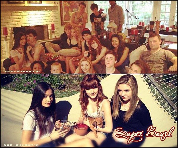 5 Février 2012  Bella invite des amis chez elle pour regarder le Super Bowl !
