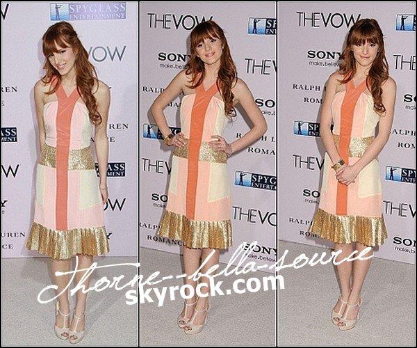 06 Fevrier 2012  Bella etait presente a l'avant premiere du film The Vow a Los Angeles !