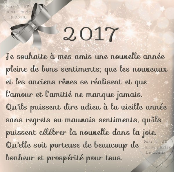 bonne années 2017 a toute et tous mes amis et surtout une bonne santé