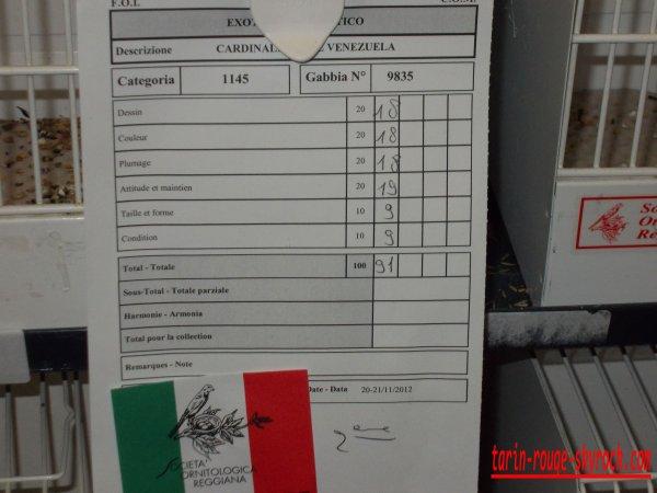 résultat du concours international de reggio emilia 2012 ..............................