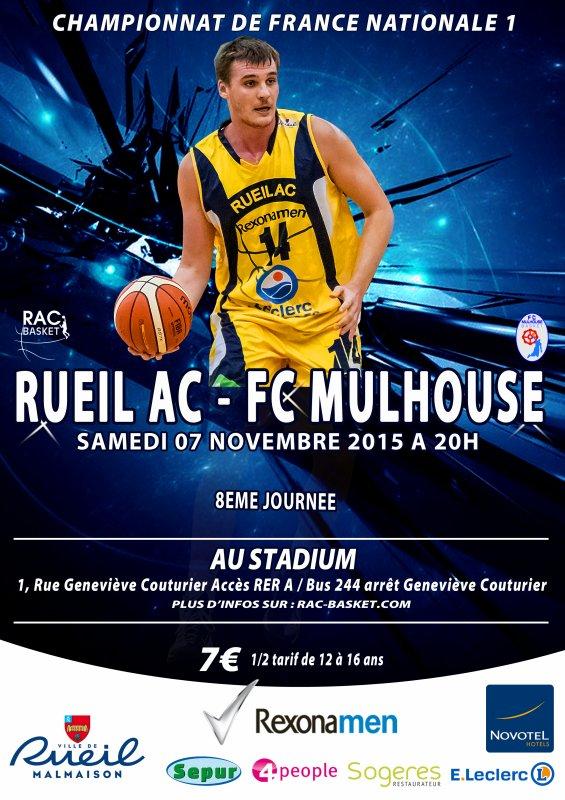 NM1 8ème JOURNÉE : RUEIL vs FC MULHOUSE