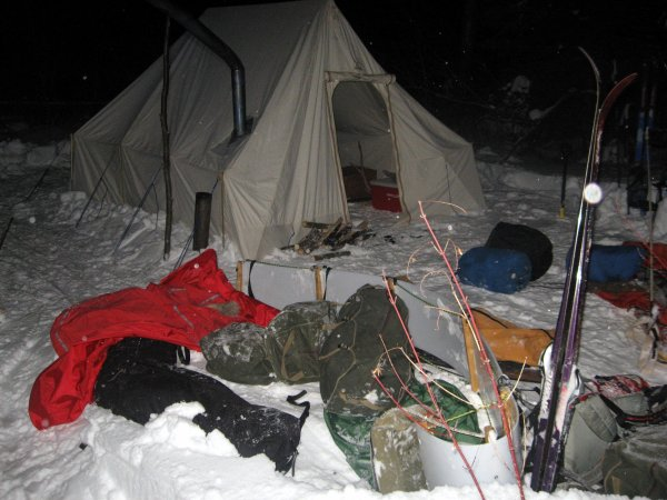 Winter Camp dans le nord du Minnesota