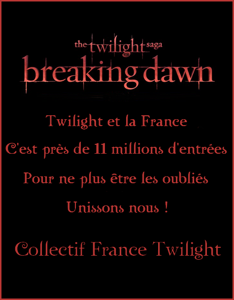 Bienvenue sur le blog du • Collectif France Twilight •