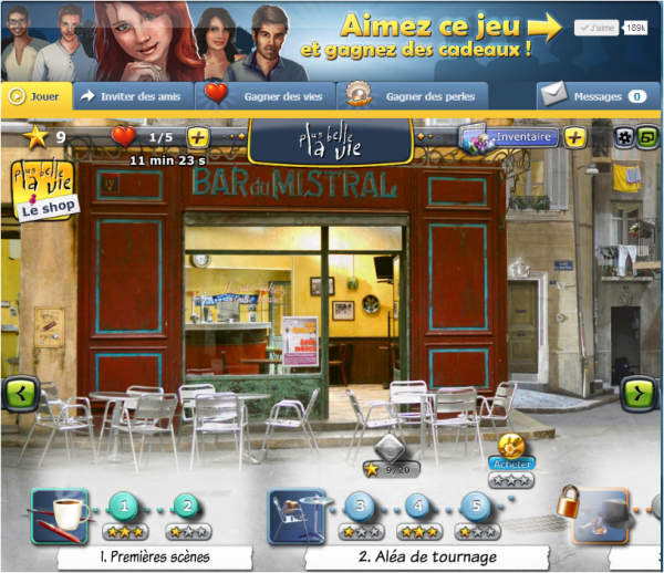 jeu facebook of mobile