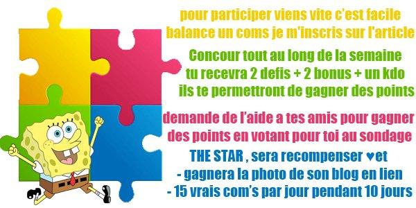 Concours  ★ Blog Stàr   Winner ] THE STAR DE MON BLOG ☺