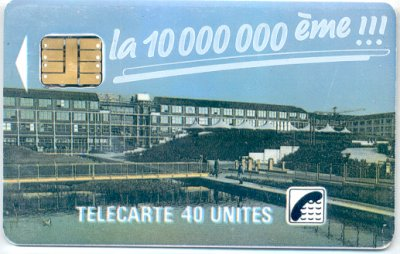 La 10 millionième télécarte produite par Schlumberger // The 10 millionth phonecard produced by Schlumberger