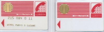 Carte habilitation // Habilitation card