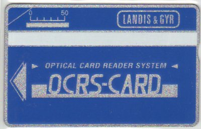 Carte expérimentale holographique de Landis & Gyr // Experimental optical card from Landis & Gyr