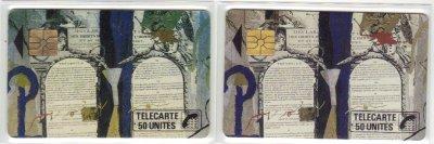 Variante sur la Petite suite des droits de l'Homme // Trial on a French public phonecard