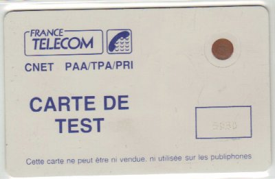 Carte de test CNET // Test card