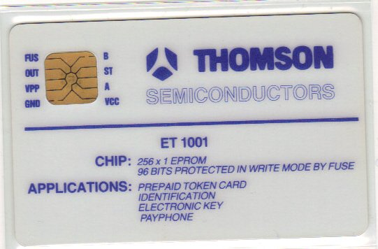 Ancienne carte de démo Thomson // Old demo card by Thomson