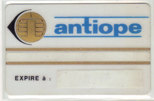 Carte à puce rare système Antiope // Scarce chip card linked to the Antiope System