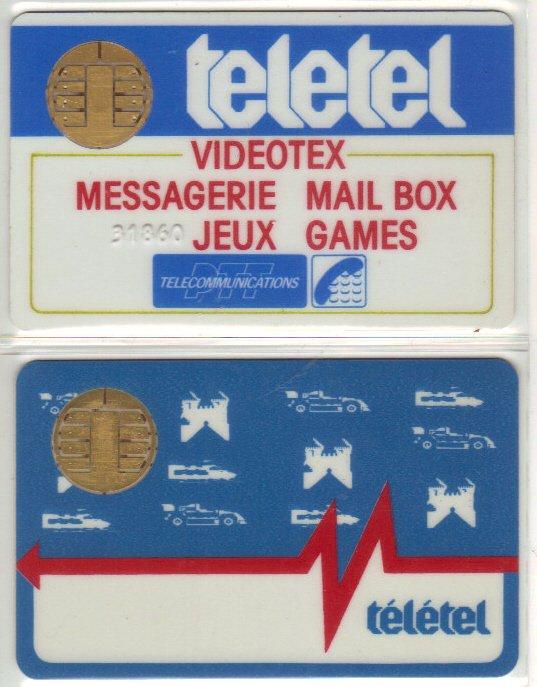 Cartes à puce Teletel // Teletel chip card
