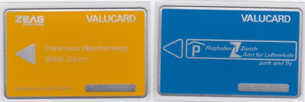 Cartes test de parking // Parking cards