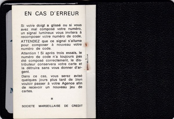 L'ancêtre de la carte de retrait // The oldest withdrawal card
