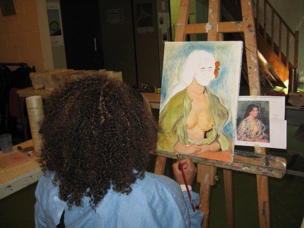 Inspirée du maître Renoir et...