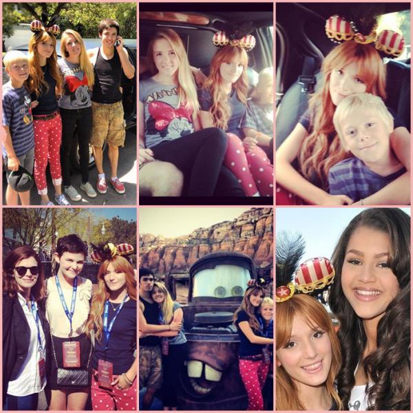 """Le 13 Juin dernier, Bella etait a l'ouverture de """"Cars Land"""" a DisneyLand Resort."""
