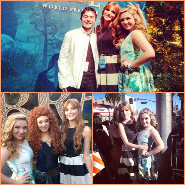Bella a la première du film Brave le 18 juin dernier :