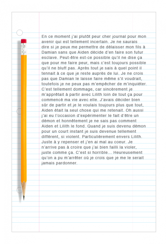 Journal de Nick au sujet de Lilith