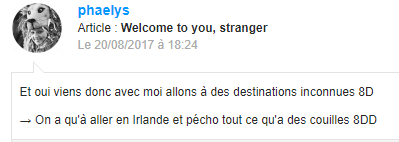 Welcome to you, stranger