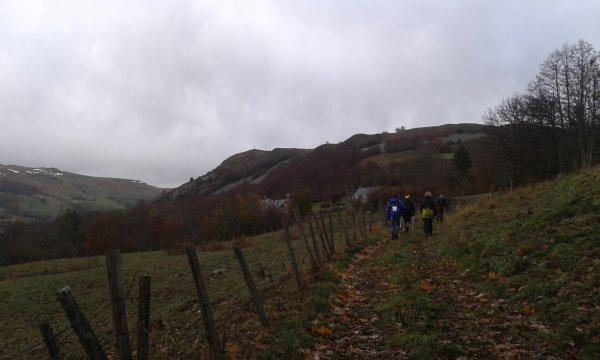 photos de la sortie au départ de Dienne le 13 novembre