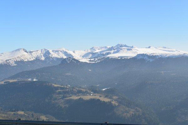 photos de la sortie raquettes dans le massif du Sancy