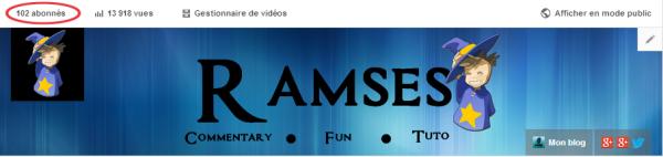 Le cap des 100 abonnés atteint ! (Youtube)