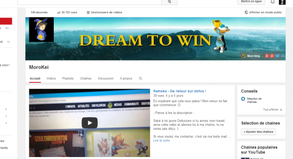 Du nouveau sur ma chaîne Youtube !