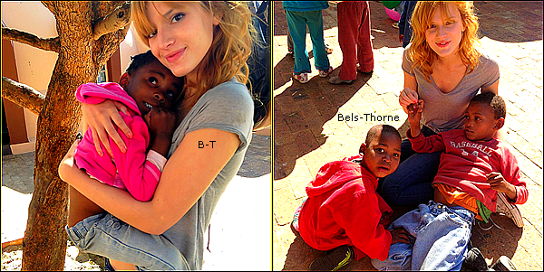 24/06/13 Bella, Remy et Bella P. visitent le village de Sparrow, en Afrique du Sud.
