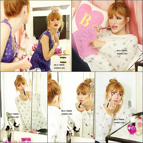 """Bella pour le nouveau parfum de Vera Wang """"Pink Princess""""."""