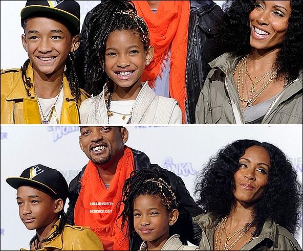 . 08 Février 2011 :   Willow Smith avec sa famille à l'avant première de Justin Bieber « NSN » à (L.A.).  .