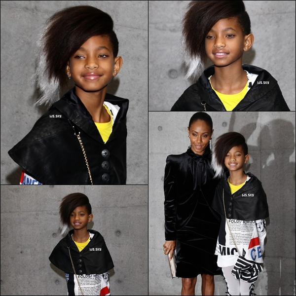 . 25 Septembre 2010 :   Willow Smith et maman Pinkett  à la Fashion Week à Milan en Italie.  .