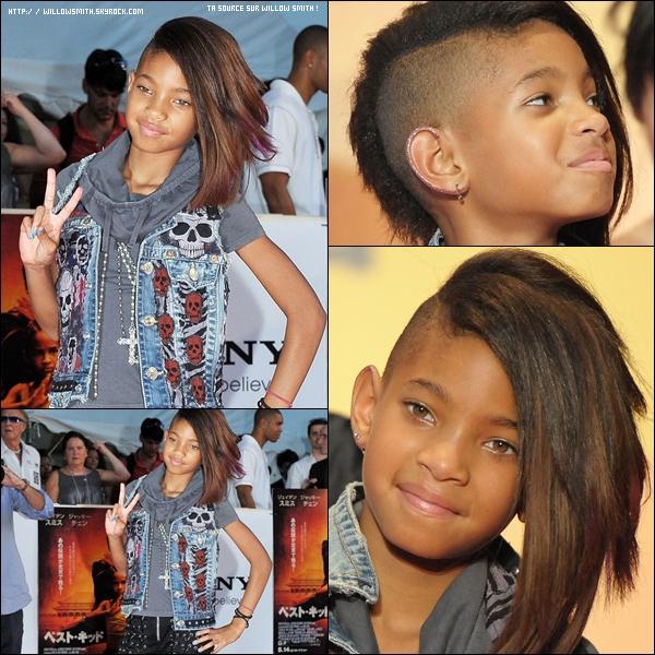 """. 05 Août 2010 :   Willow Smith  était à la première du film """"Karate Kid"""" de son frère  à Tokyo au Japon.  ."""