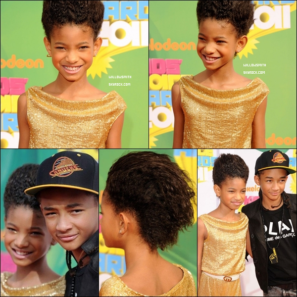 . 03 Avril 2011 :   Willow Smith était aux Kids Choice Awards 2011 - Orange Carpet à (L.A.). VIDEO .
